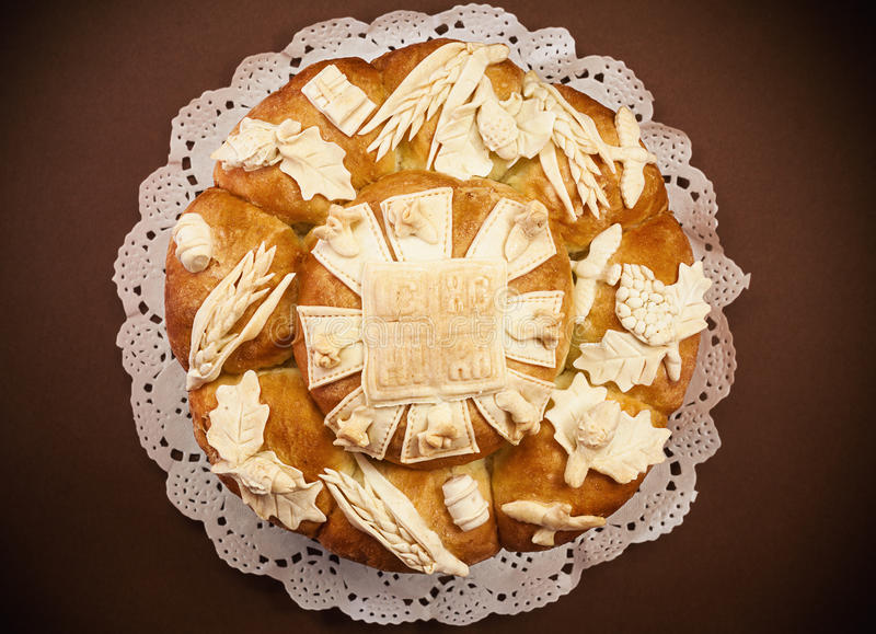 Slava Cake Decoration fotografering för bildbyråer