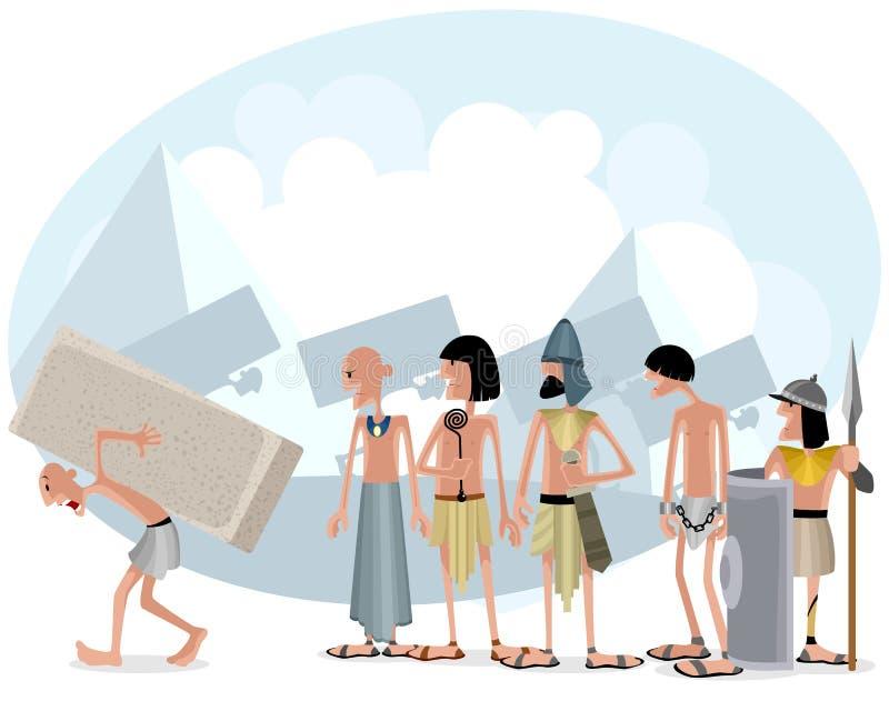 Slavar och förlage vektor illustrationer