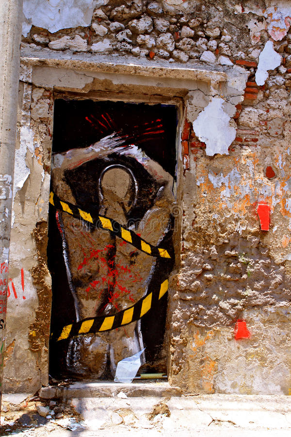 Slave-Graffiti, Cartagena, Colombia royalty free stock images