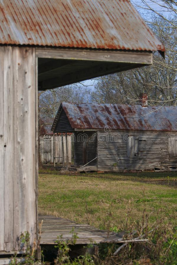 Slave quarters at the Laurel Valley Sugar Plantation. Near Thibodaux, Louisiana, was used as a set for the feature film `Ray,` in 2004 stock photography
