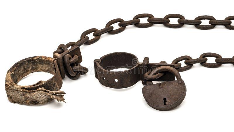 Slave shackles stock images