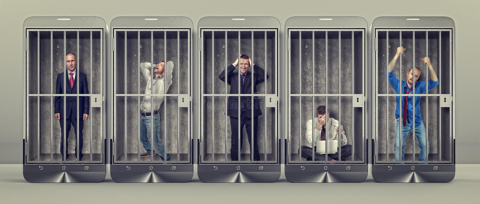 Slave of smartphone royalty free stock images