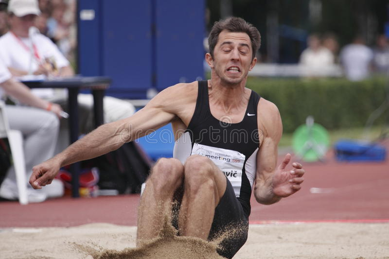 Download Slaven Didzarevic At IAAF Decathlon Meeting Editorial Stock Image - Image of czech, fortuna: 14754704