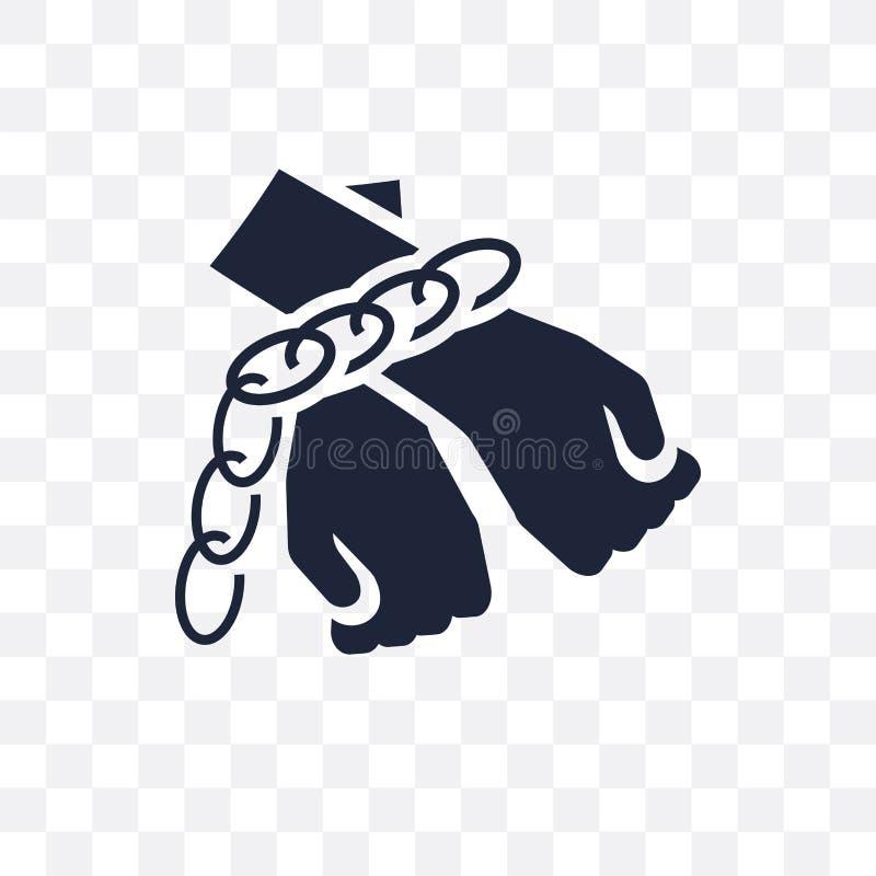 slaveri i Förenta staterna den genomskinliga symbolen slaveri i FN stock illustrationer