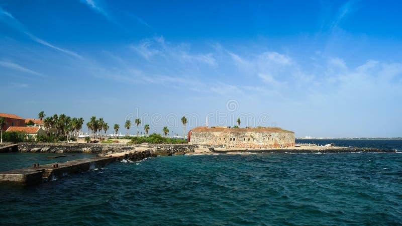 Slaverifästning på den Goree ön, Dakar Senegal arkivbilder