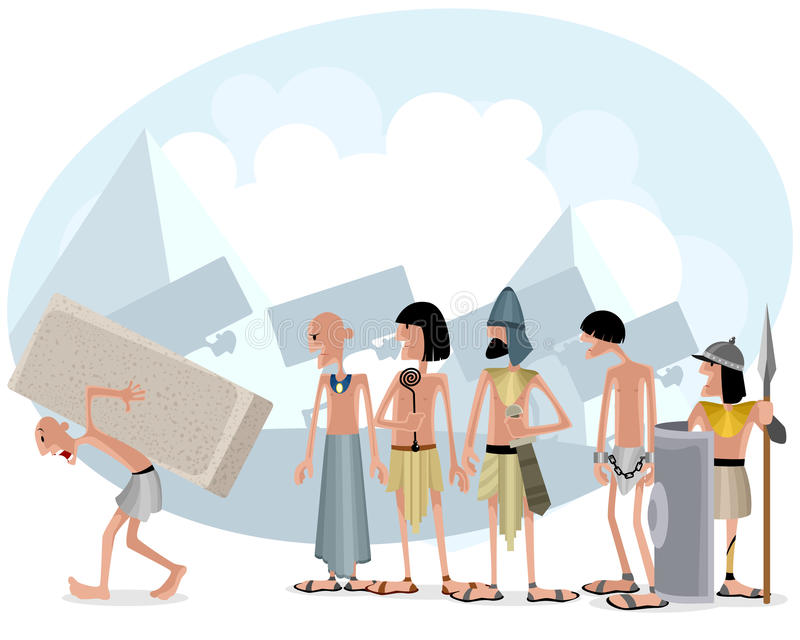 Slaves and masters vector illustration
