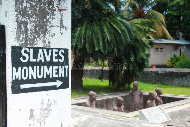 Slaves monument. In Zanzibar Stone Town royalty free stock photography