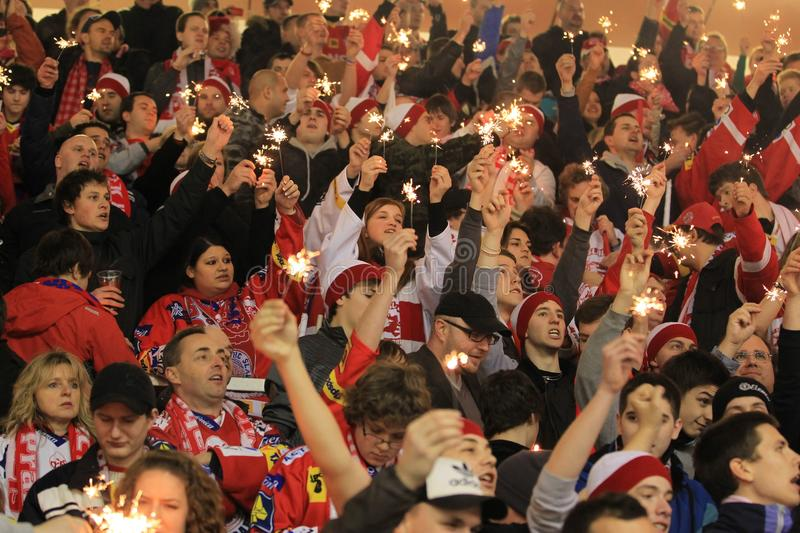 Download Slavia Prague Fans With Sparklers Editorial Stock Image - Image: 23658799