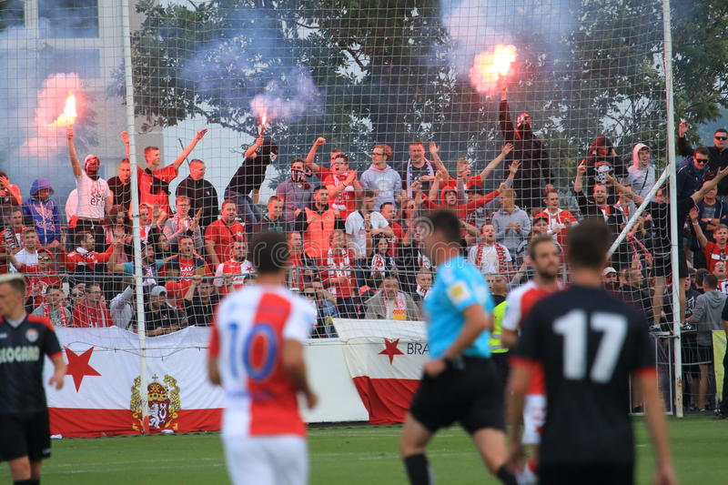 Slavia Prague rowdies stock images