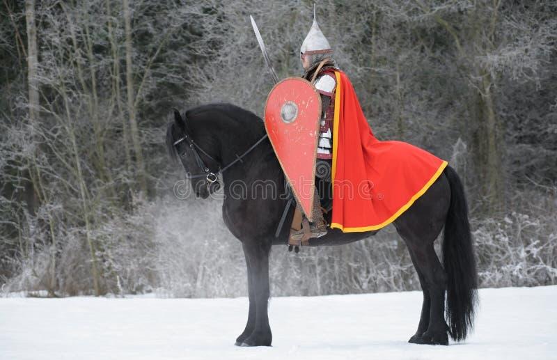Slavic knight royalty free stock photo