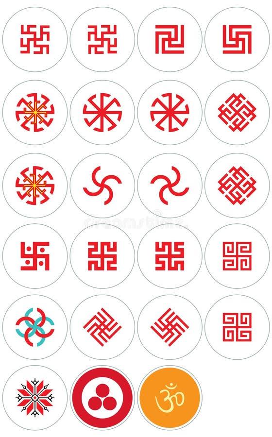 Slavic and Oriental simbols stock illustration