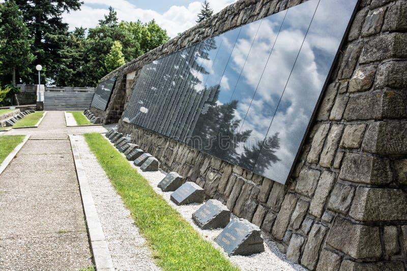 Slavin是纪念纪念碑和军事公墓在Bratisl 免版税库存图片