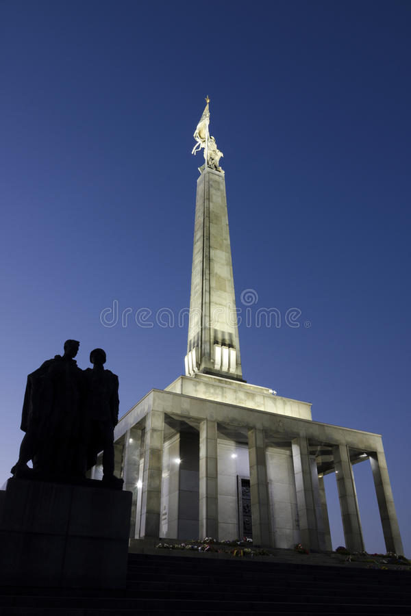 Slavin, het gedenkteken aan Sovjetmilitairen, Bratislava royalty-vrije stock foto's