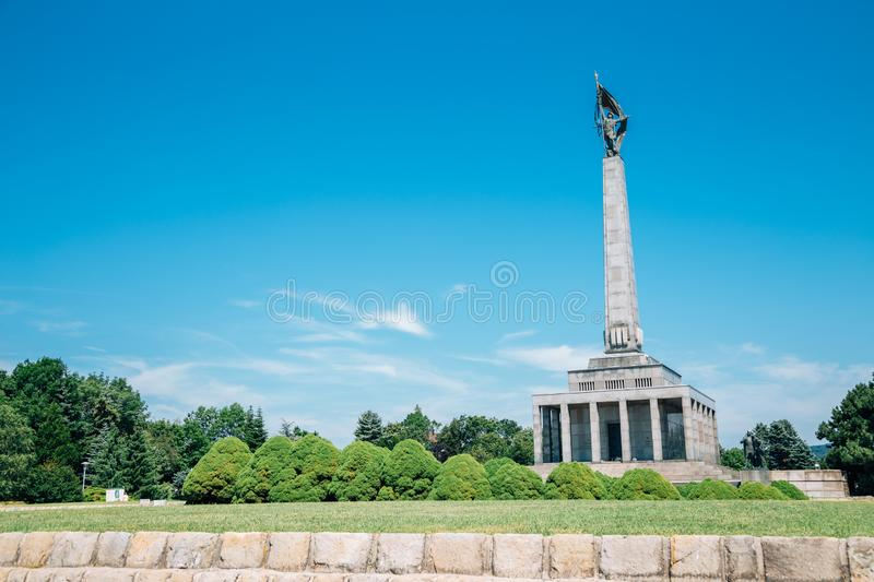 Slavin memorial monument and military cemetery in Bratislava, Slovakia. Europe stock image