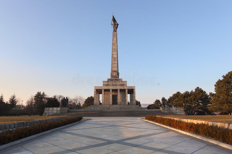 Slavin - monumento e cimitero commemorativi fotografia stock libera da diritti