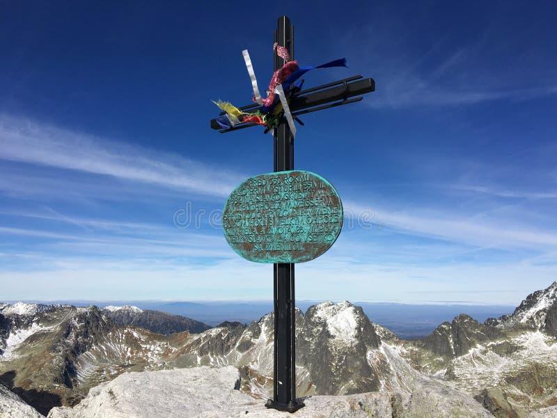 Slavkovskà ½ Å ¡ tÃt, wierzchołek ten zadziwiający szczyt w Sistani zdjęcia stock
