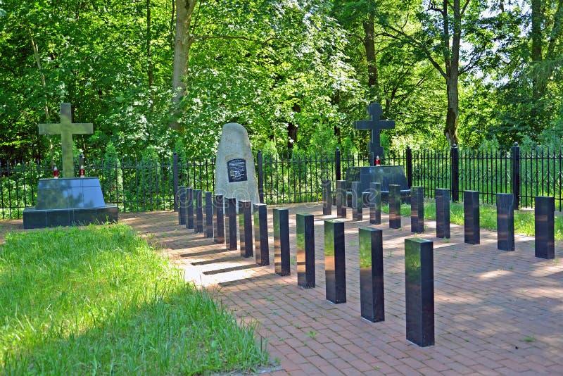 SLAVSK, RUSSIE Cimetière commémoratif de la Première Guerre Mondiale Enterrement de 24 Russes et de 2 soldats allemands photo libre de droits