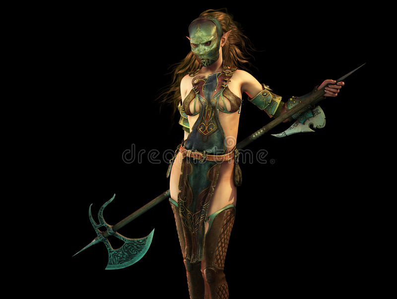 Slayer Woman 3d Computer Graphics royalty free illustration