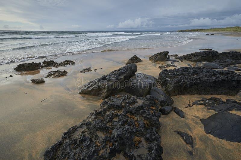 Slea朝向幽谷半岛,凯利,爱尔兰 免版税图库摄影