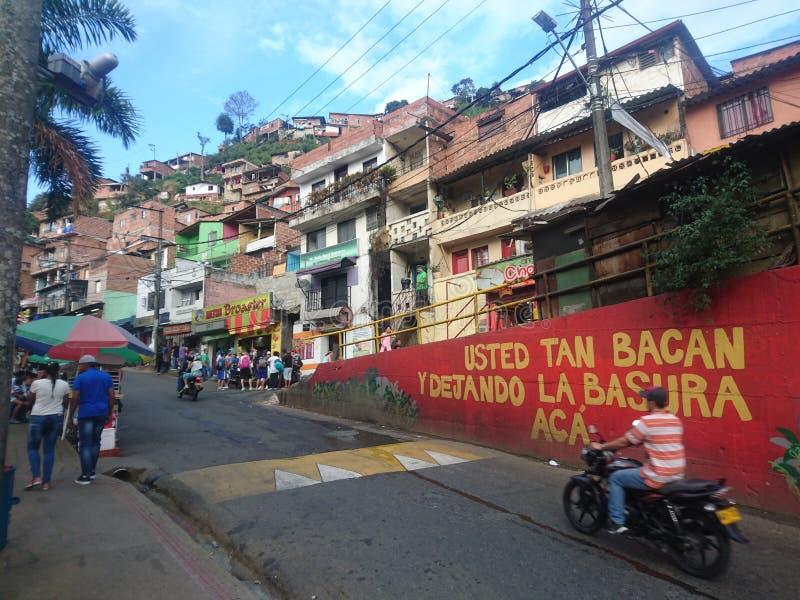 Slecht gebied van Latijns Amerika royalty-vrije stock foto