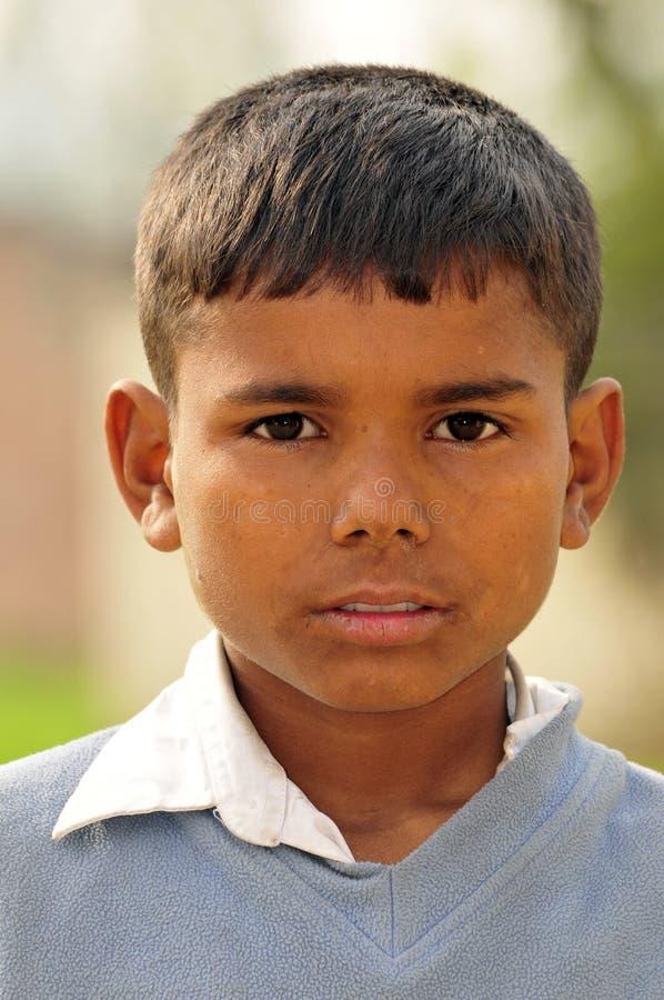 Slecht Indisch kind royalty-vrije stock fotografie