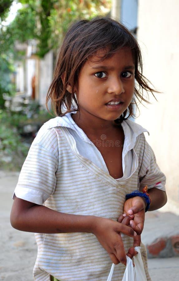 Slecht Indisch meisje royalty-vrije stock afbeelding