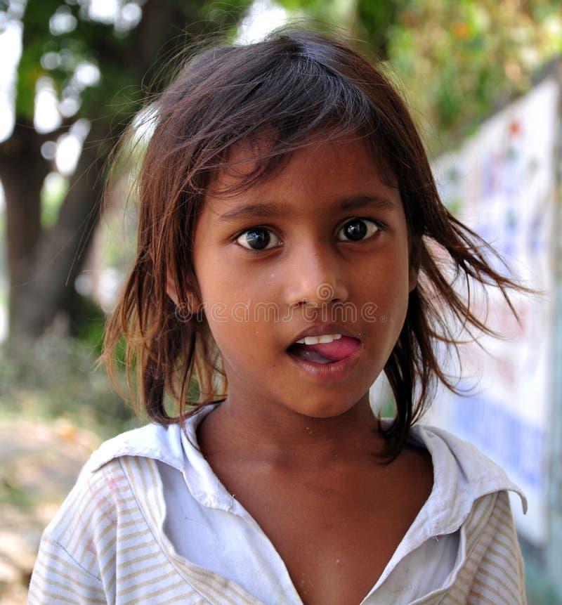 Slecht Indisch meisje royalty-vrije stock afbeeldingen