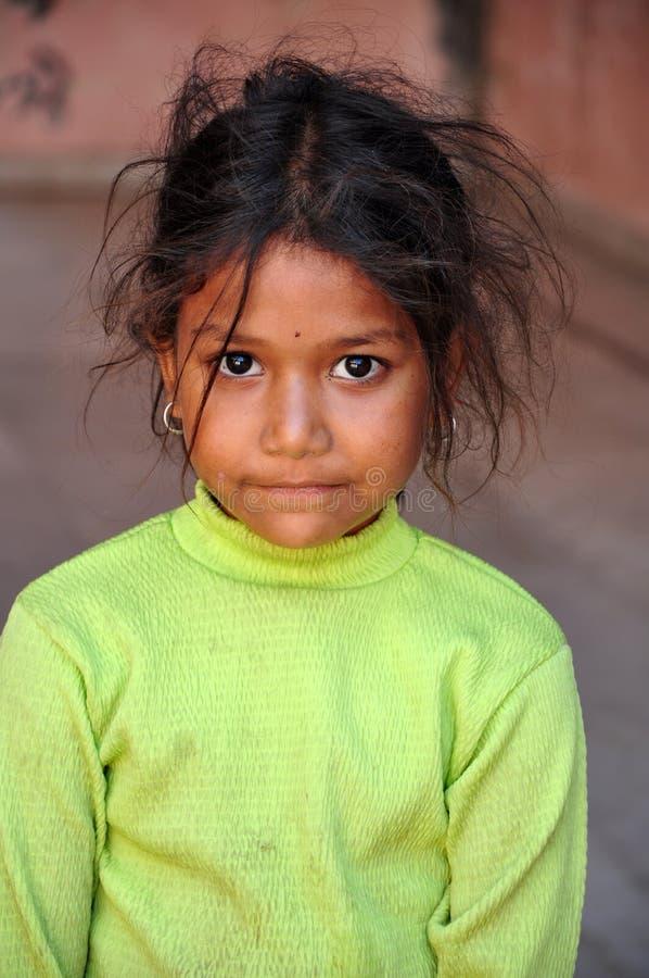 Slecht Indisch meisje royalty-vrije stock fotografie
