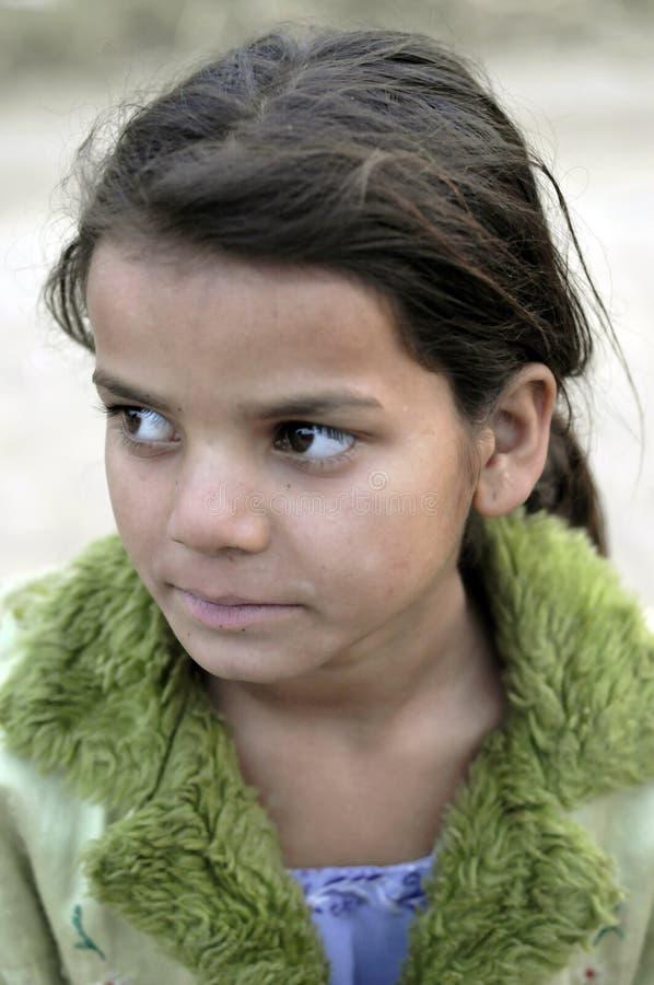 Slecht Indisch meisjesportret stock foto