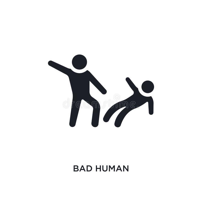 slecht mens geïsoleerd pictogram eenvoudige elementenillustratie van de pictogrammen van het gevoelsconcept slecht menselijk edit royalty-vrije illustratie