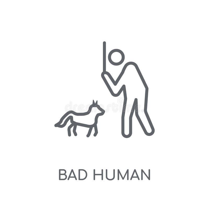 slecht menselijk lineair pictogram Het moderne concept van het overzichts slechte menselijke embleem  royalty-vrije illustratie
