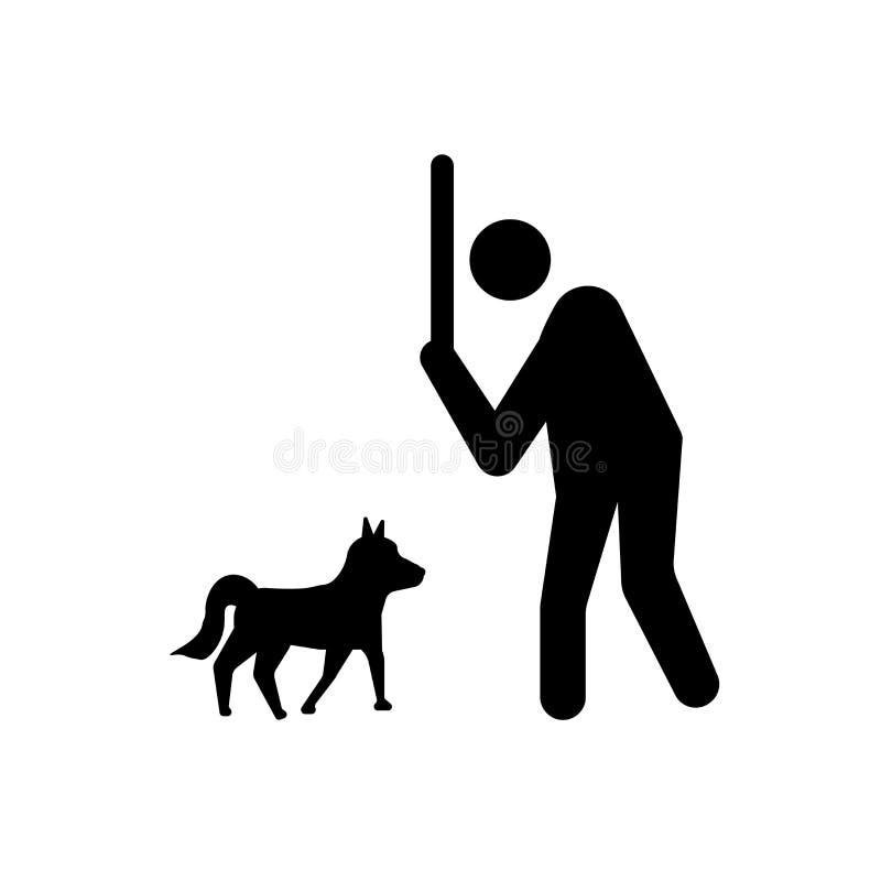 slecht menselijk pictogram In slecht menselijk embleemconcept op witte backgroun royalty-vrije illustratie