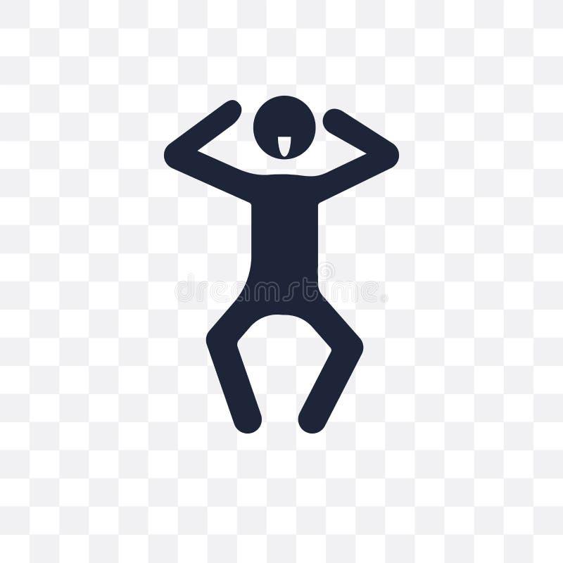 slecht menselijk transparant pictogram slecht menselijk symboolontwerp van het Voelen stock illustratie