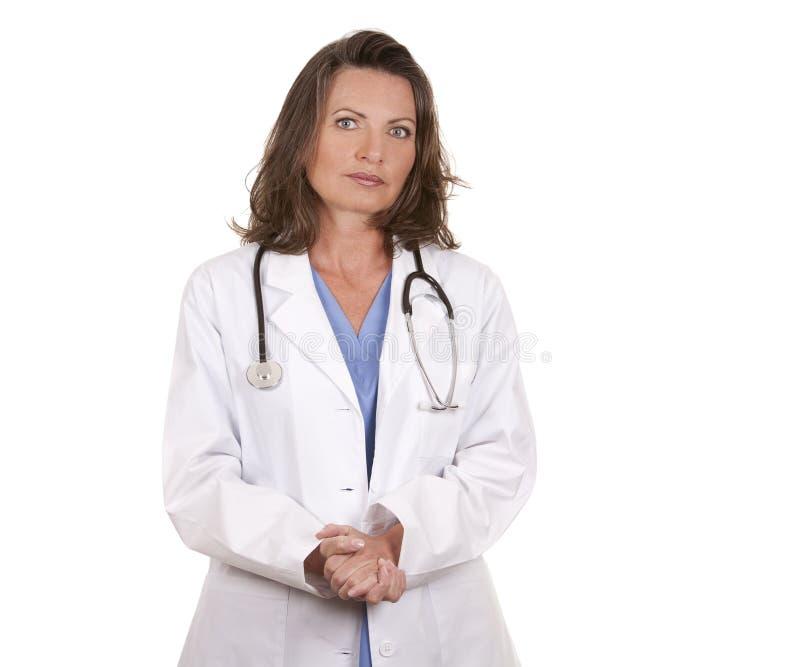Slecht nieuws van arts stock foto