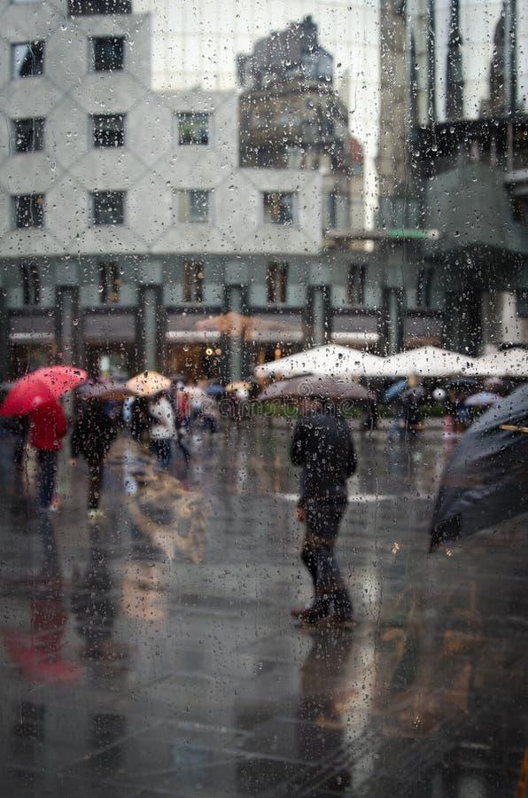 Slecht weer De regen in Wenen royalty-vrije stock afbeeldingen