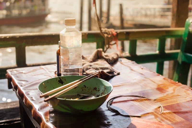 Slechte Aziatische maaltijd royalty-vrije stock fotografie