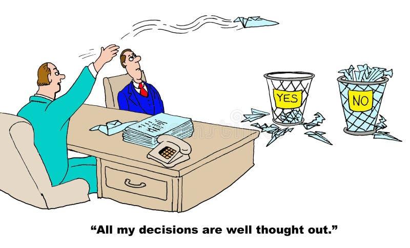 Slechte besluitvormer stock illustratie