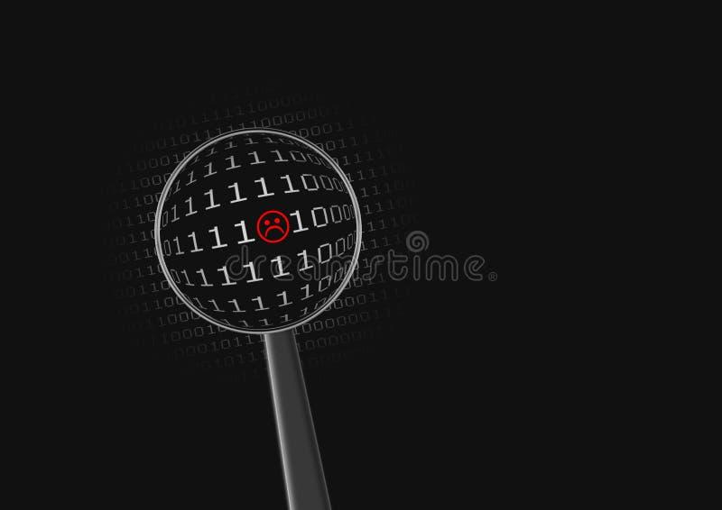 Slechte code vector illustratie