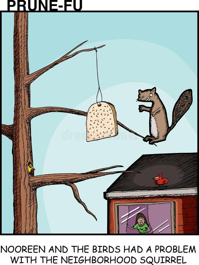 Slechte Eekhoorn stock illustratie