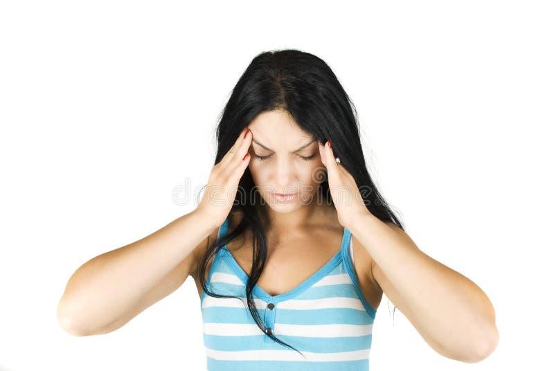 Slechte hoofdpijn stock afbeelding