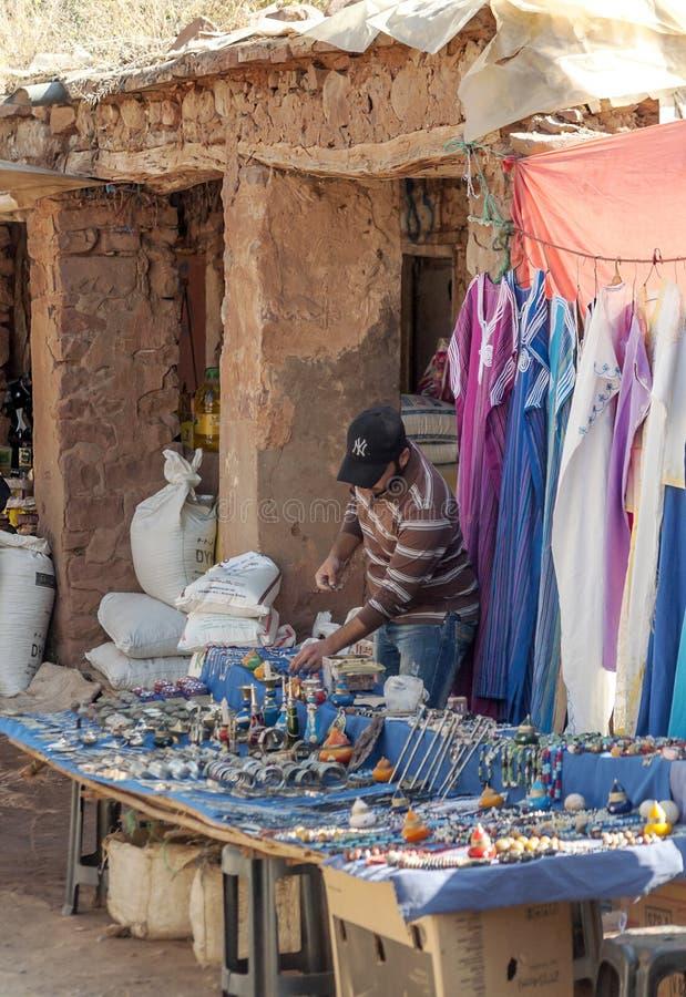 Slechte markt Marokko stock fotografie