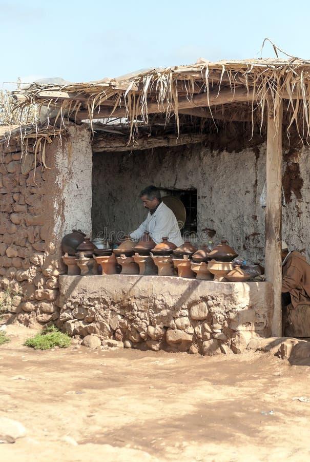 Slechte markt Marokko stock foto
