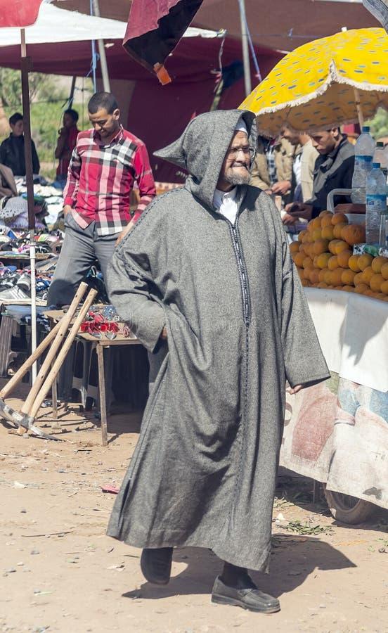 Slechte markt Marokko royalty-vrije stock afbeelding