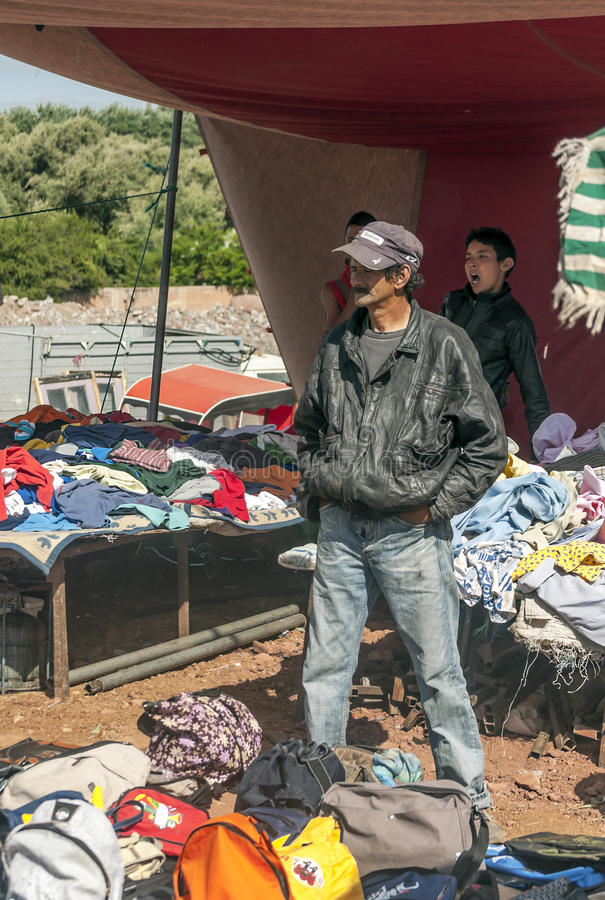Slechte markt Marokko royalty-vrije stock foto's