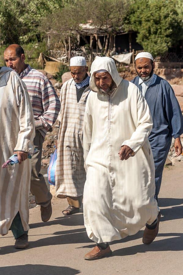 Slechte markt Marokko stock afbeeldingen