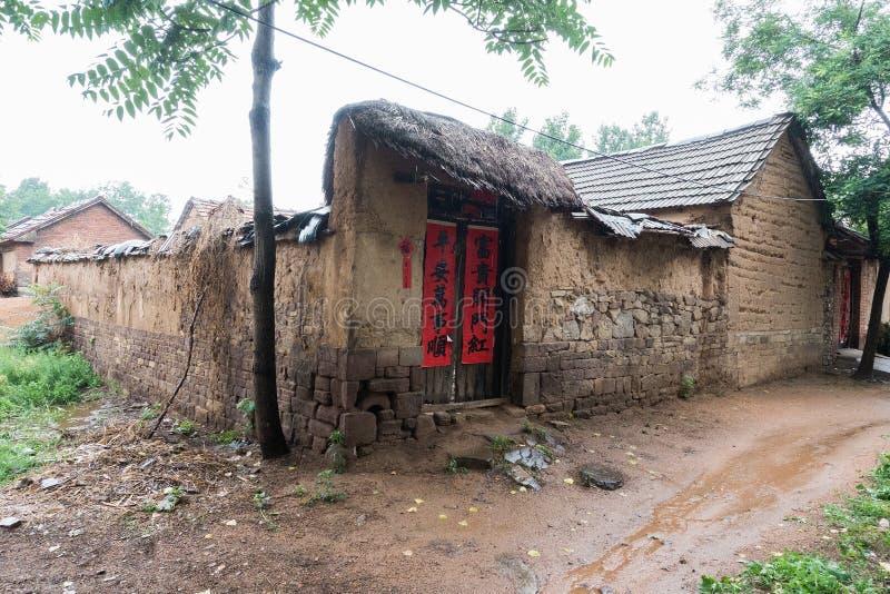 Slechte plattelandsgebieden in China stock afbeeldingen
