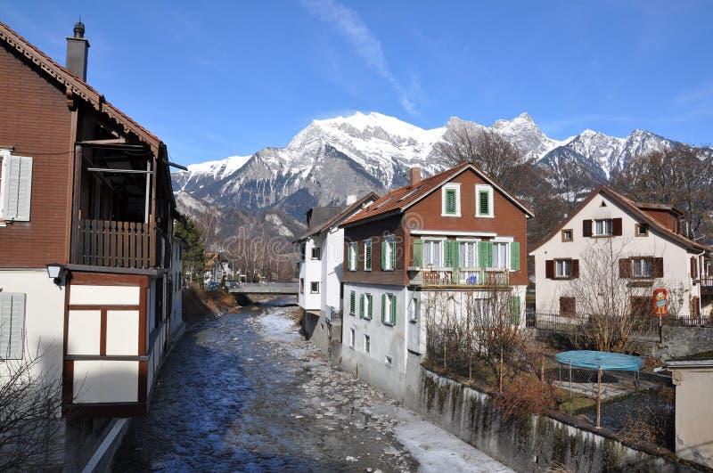Slechte Ragaz, Zwitserland royalty-vrije stock foto's
