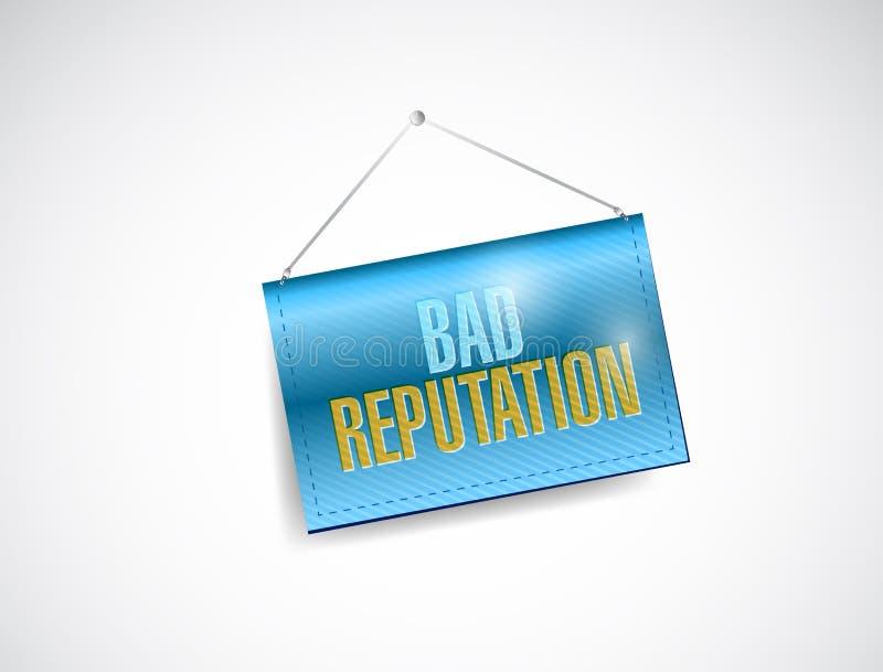 Slechte reputatie hangende banner vector illustratie