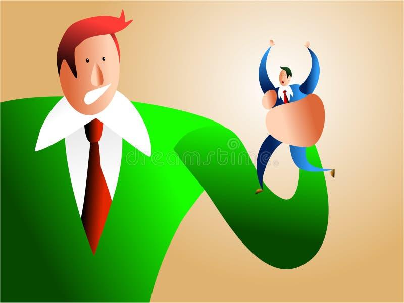 Slechte werkgever vector illustratie