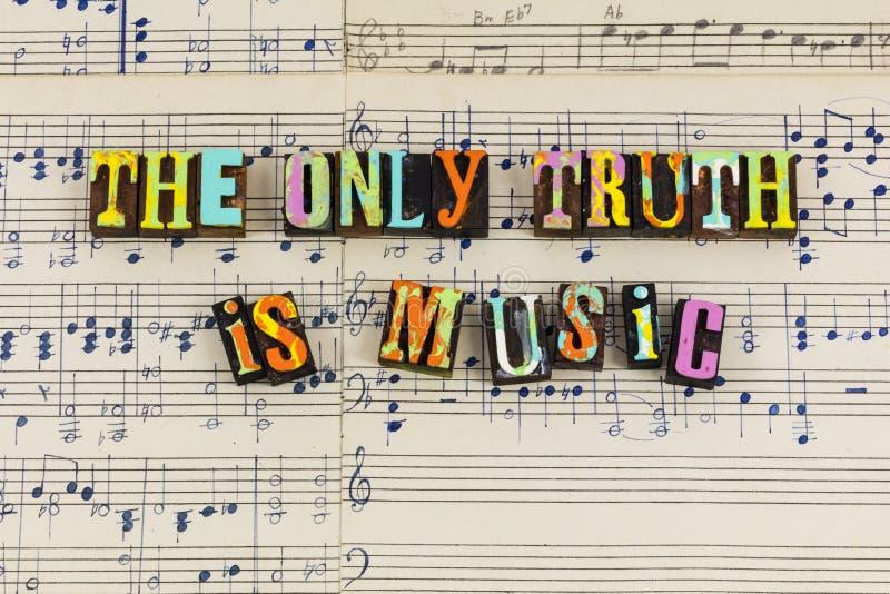 Slechts is de waarheid muziek royalty-vrije stock afbeeldingen